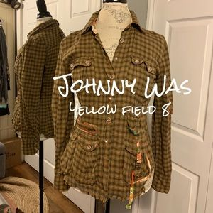 Johnny Was | Yellow Field 8 Plaid Shirt